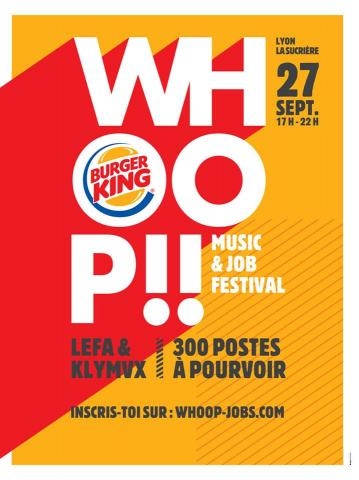 #WHOOPFESTIVAL : recrutement Burger King, Lyon Confluence