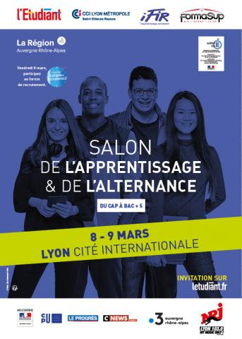 Salon L'Etudiant de l'Alternance, 8 & 9 mars, Lyon 6e