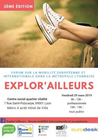 Forum Explor'Ailleurs, Centre Social Quartier Vitalité, Lyon...