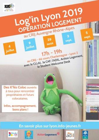 Log'in Lyon 2019, opération logement, CRIJ, Lyon 2e