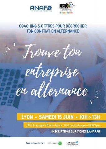 Atelier - Trouver son entreprise en alternance, CRIJ, Lyon 2...