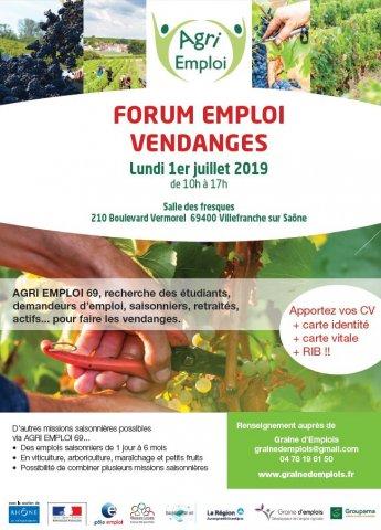 Forum Vendanges emploi, Villefranche-sur-Saône