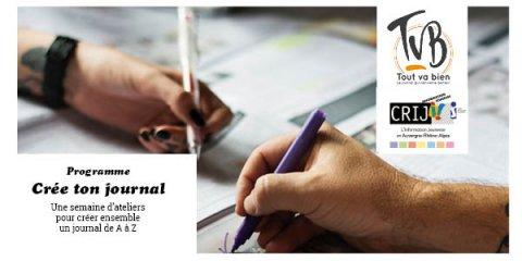 Ateliers Crée ton journal avec TVB, au CRIJ, Lyon 2e
