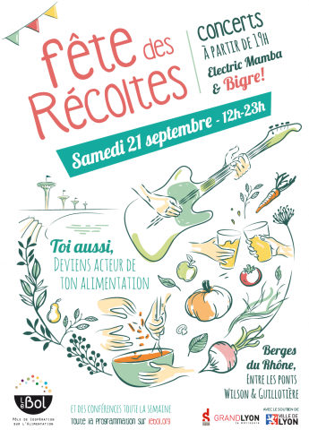 La Fête des récoltes, Berges du Rhône, Lyon