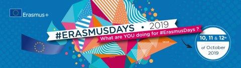 #ErasmusDays 2019 : du 11 au 13 octobre