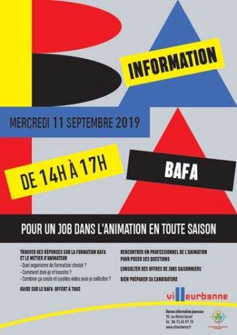 Journée d'information BAFA, BIJ Villeurbanne