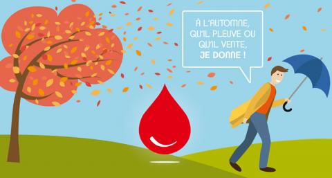 Cet automne, je donne mon sang !