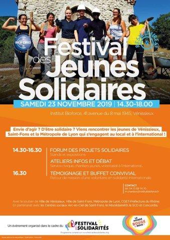 Festival des Jeunes Solidaires, Institut Bioforce, Vénissieu...