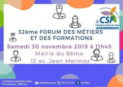 Forum des Métiers et des Formations de la CSF, Lyon 8