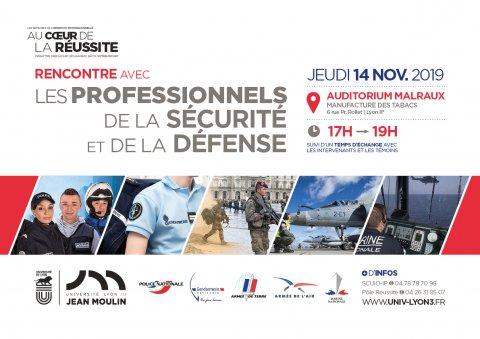 Rencontre métiers sécurité & défense, Lyon 8e