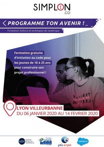 Formation gratuite d'initiation au code, Villeurbanne
