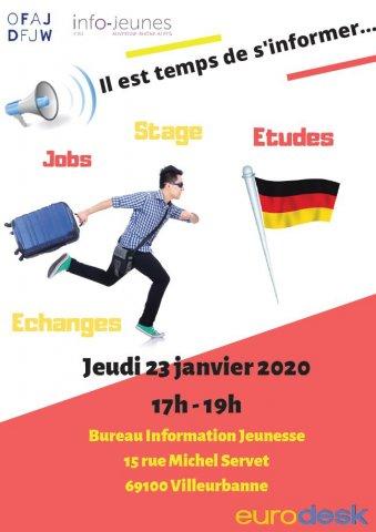 Partir en Allemagne / Atelier d'information, Villeurbanne