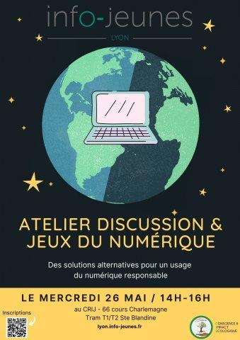 Atelier Discussion & Jeux du numérique, Lyon 2e