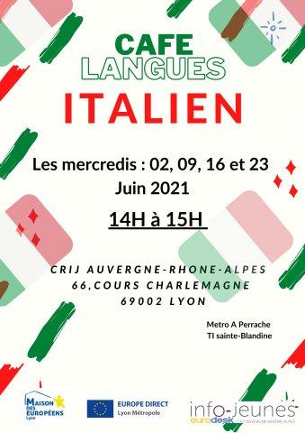 Café langues ITALIEN, Lyon 2e