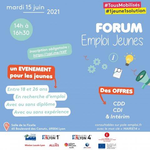 Forum Emploi Jeunes, Lyon 4e