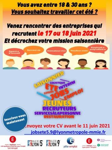 Forum Jobs d'été, Lyon 5e et 9e