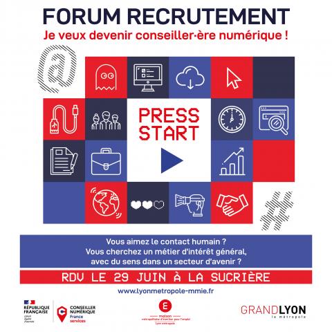 Forum recrutement conseillers numériques H/F, Lyon 2e