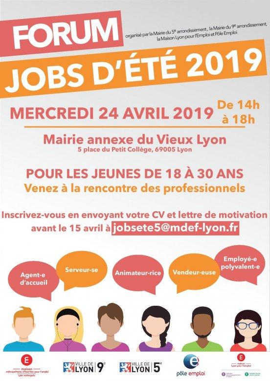 Forum Jobs D Ete 18 30 Ans Mairie Du 5e Lyon Info Jeunes Lyon